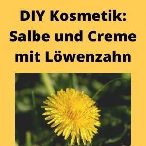 DIY Kosmetik Salbe und Creme mit Löwenzahn